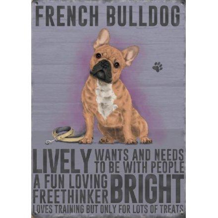 Metal Dog Sign - French Bulldog