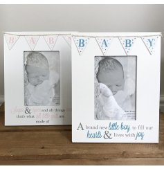 Bunting Baby Boy and Baby Girl Photo Frames Mix