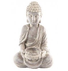 Bring that relaxing zen sense into your home with this stylish Buddha shaped candle holder