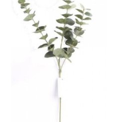 This artificial eucalyptus spray looks stylish displayed alone or as a filler for additional flowers.