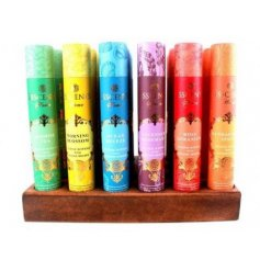 a beautiful new line of scented incense sticks, stylishly packed in colourful gold rose themed tubes