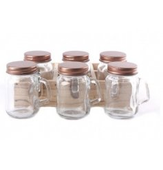 Bring into your home the new popular and trending copper colour theme with these useful mini mason jars