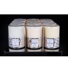 3 assorted designs on these pillar candles give off that modernised homely look.