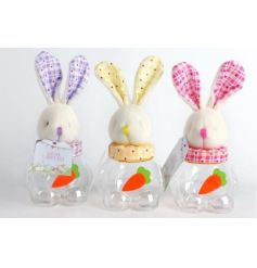 3 assortments of adorable bunny shaped treat boxes.