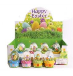 A sweet assortment of Easter themed water globes.