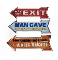 3 assorted metal arrow signs, each with their own style