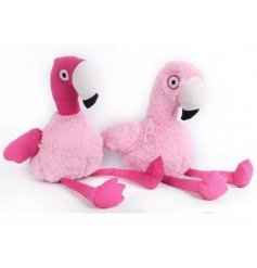A funky assortment of flamingo themed doorstops,