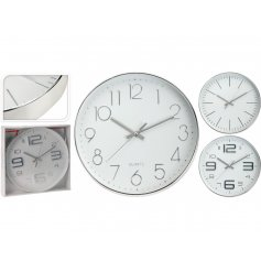 A mix of 3 silver contemporary design clocks. A chic decoration for the home and gift item.