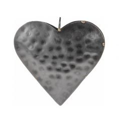 Simplistic brass styled hanging heart decoration.