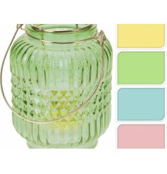 These warm summer feeling glass lanterns are a must have for this summer season.
