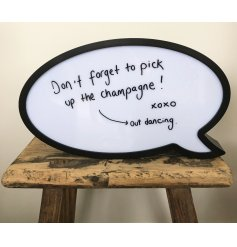 Add some zazz to any space with this quirky and modern looking speech bubble.