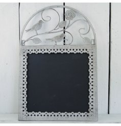 This stylishly beautiful metal framed chalkboard will be sure to add a distressed vibe to any space