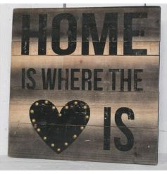 Home is Where the Heart is  This beautiful wooden plaque with a distressed printed 'Home is where the heart is' quote