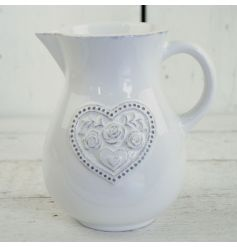 This dainty floral heart pattered jug will add a touch of vintage charm to any kitchen