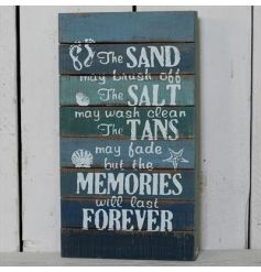 This beautiful coastal charm themed standing sign is a great way to bring the beach life into your home