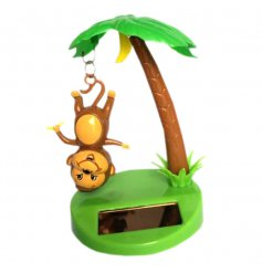 Add this cheeky monkey to any sun lit area and watch him wiggle away in his tree