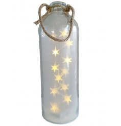 Bring to your home a magical and warming glow with this quirky large light up jar