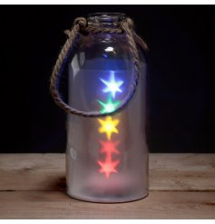 Bring to your home a magical and colourful glow with this quirky extra large light up jar