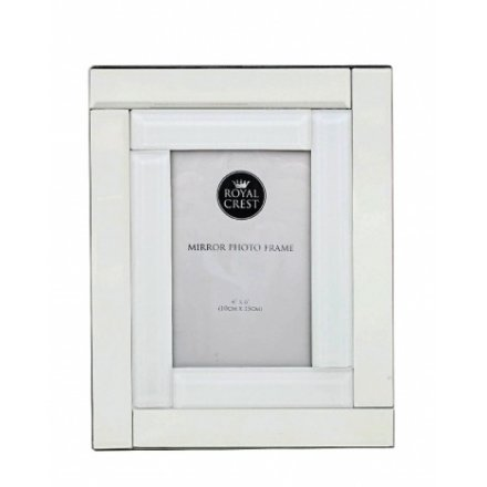 LP40246 / Mirror & White Photo Frame 4x6 | 33245 | Homeware / Photo ...