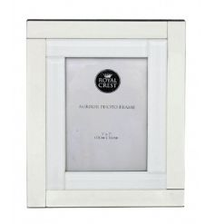 A stunning mirror and white classic photo frame. A gorgeous home decor item and gift.