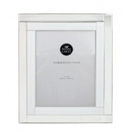 LP40248 / Mirror and White Photo Frame, 8 x 10 | 33247 | Photo ...