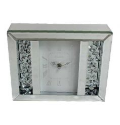 This beautiful and stylish mirrored clock will be the perfect addition to any home.