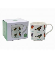 A fine china illustrated birds mug. A great gift item.