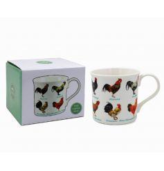 A fine china cockerel variety mug. A country living item for the home.