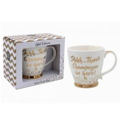 Shhh...There's Champagne in here! A fun and fabulous Champagne mug with gift box. A great gift item for many occasions.