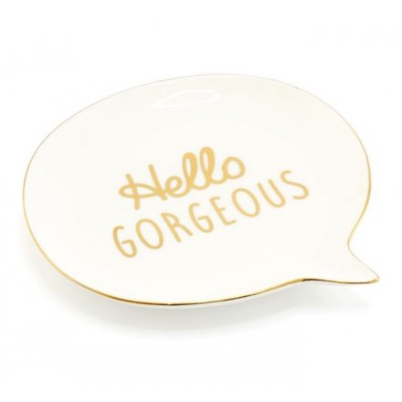 Hello Gorg Speech Bubble Dish