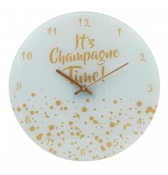 This Acrylic based clock face finished with gold hands and added sparkle will look perfect in any wine lovers home!