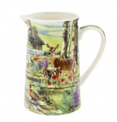 This delicate woodland printed Jug will add a warm touch of the wild to your home