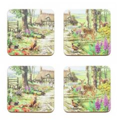 This set of 4 coasters will add a warm touch of the wild to your home, Accessorise it with all the other All Creatures r