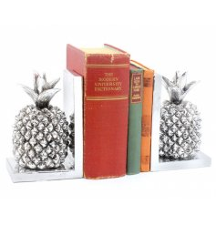 Bring a touch of modern to any dusty bookshelf with these pineapple shaped book ends.