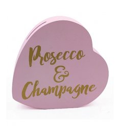 Save up your pennies for those bottles of prosecco and champagne with this super chic heart shaped money box.