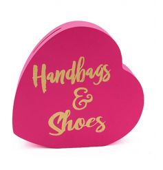Save your pennies for those handbags and shoes with this fabulous heart shaped money box.