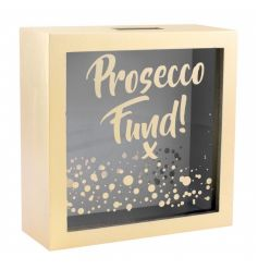 Save your pennies for that all important Prosecco fund. A stylish money box with Prosecco Fund slogan and bubble design