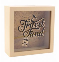 With its vintage mapped background and sprit font on the front panel, this stylish box will fit in nicely with any room