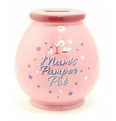 This pink ceramic money pot is the perfect gift to give this season,