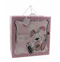 An utterly charming precious little girl gift bag with a rabbit design. From the popular Little Miracles range.