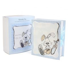 Save those special memories in this adorable blue keepsake box. A fantastic gift item.