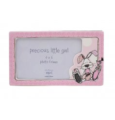 What better way to store the loving photos of your baby than in this sweet pink little photo frame.
