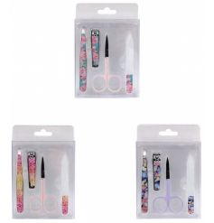 Quirky and colourful mini manicure sets.