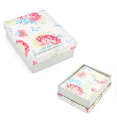 A pack of 12 pretty notecards with envelopes. Each card has a Spring bright hydrangea design with butterflies.