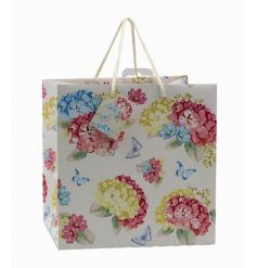 A beautifully designed gift bag with a colourful Hydrangea theme.