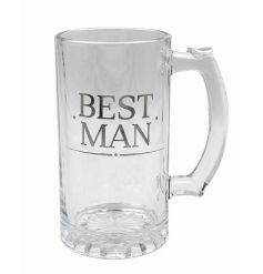 Large and stylish tankard. With its silver inscription