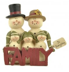 This sweet little family of snowmen will add that much loved family vibe into the home at christmas,