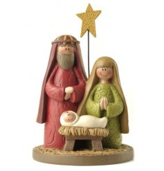 A sweet traditional themed nativity decoration,