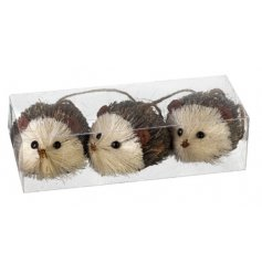 This adorable trio pack of hanging hedgehog decorations will be sure to bring that sweet woodland vibe to your home