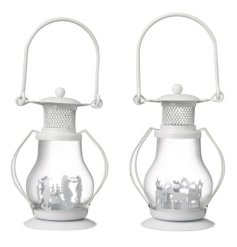 A stylish yet simple assorted set of festive themed candle holder lanterns